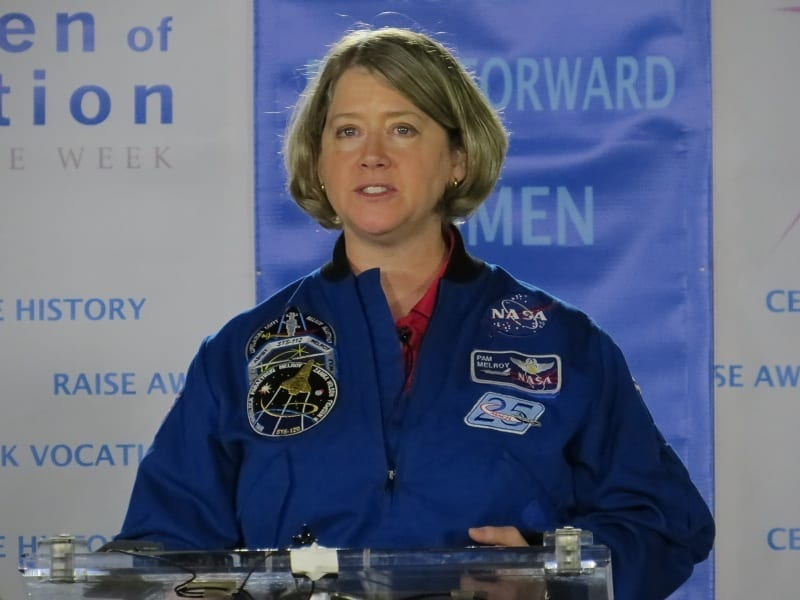 Astronaut Pam Melroy at Women Of Aviation Week event