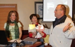 (left to right) Cathy Mighell, Mireille Goyer, & Rob Putman