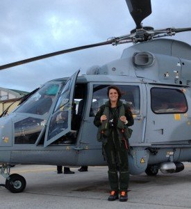 lorelie, pilote d'helicoptere