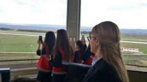 Control tower tour for girls